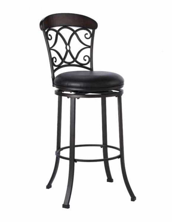Trevelian Swivel Counter Stool With Brown Vinyl - Hillsdale