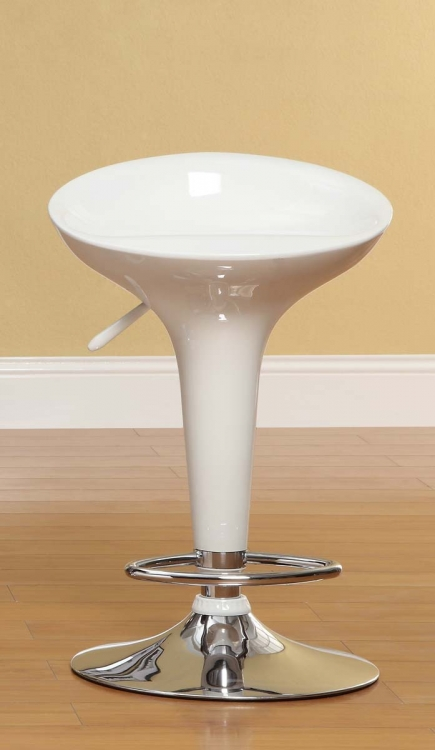1145WHT Ride Swivel Stool - White
