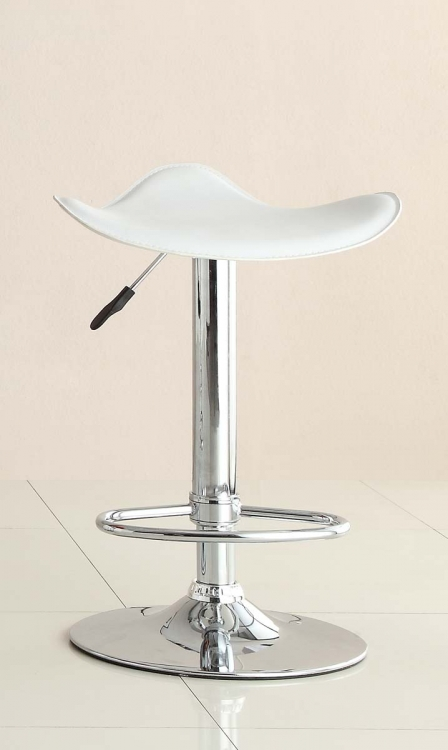 1146WHT Ride Swivel Stool - White