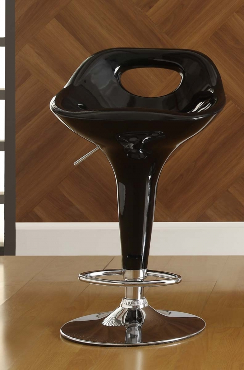 1147BLK Ride Swivel Stool - Black