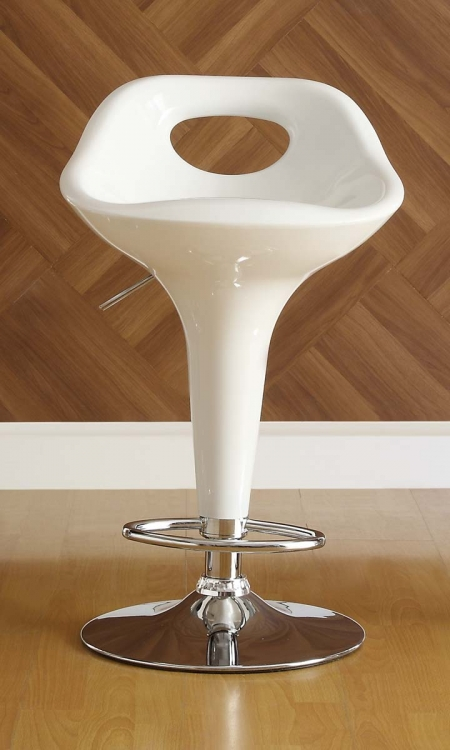 1147WHT Ride Swivel Stool - White - Homelegance
