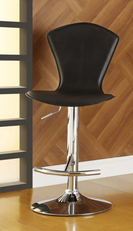 1148BLK Ride Swivel Stool - Black - Homelegance