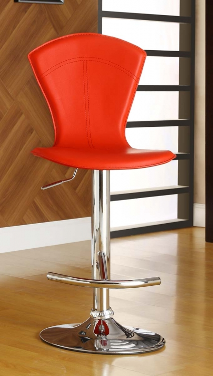 1148RED Ride Swivel Stool - Red - Homelegance