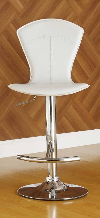 1148WHT Ride Swivel Stool - White - Homelegance