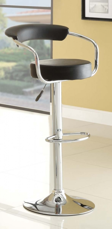 1149BLK Ride Swivel Stool - Black - Homelegance