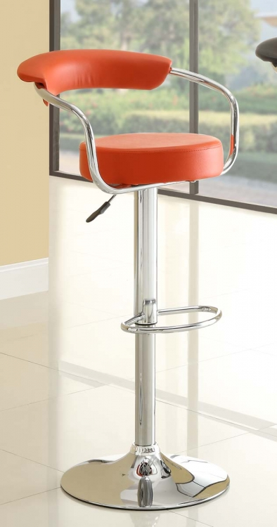 1149RED Ride Swivel Stool - Red - Homelegance