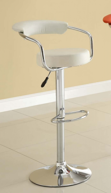 1149WHT Ride Swivel Stool - White