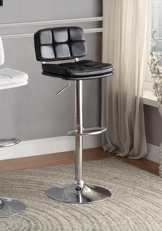 Berrien Airlift Swivel Stool - Black