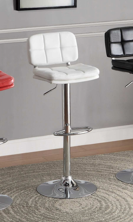 Berrien Airlift Swivel Stool - White