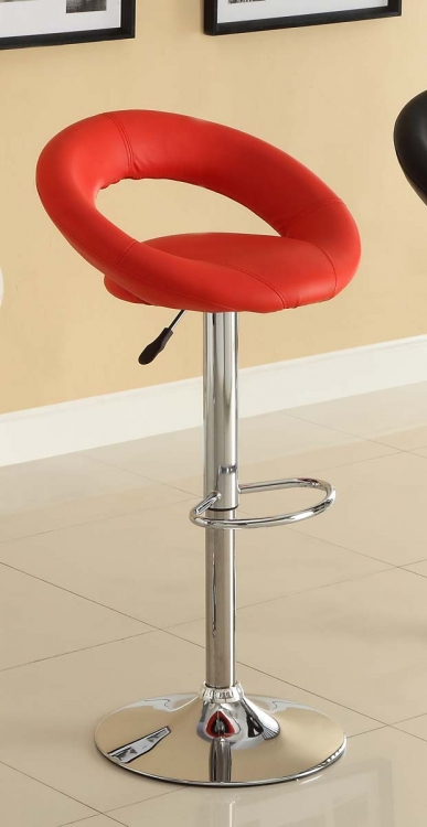1155RED Ride Swivel Stool - Red - Homelegance