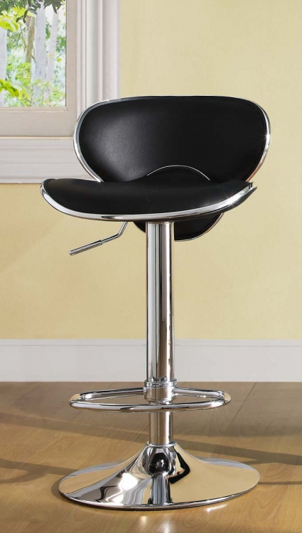 1156BLK Ride Swivel Stool - Black - Homelegance
