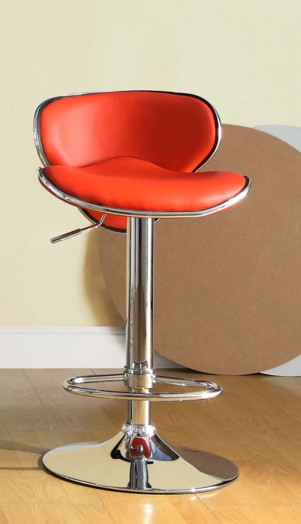 1156RED Ride Swivel Stool - Red - Homelegance