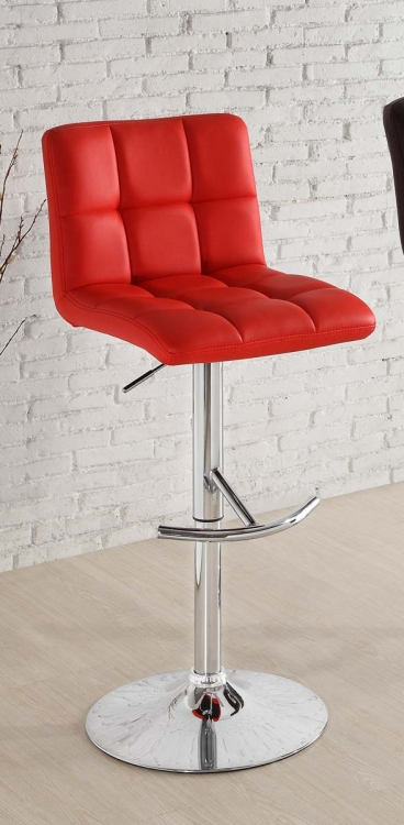 1157RED Ride Swivel Stool - Red - Homelegance