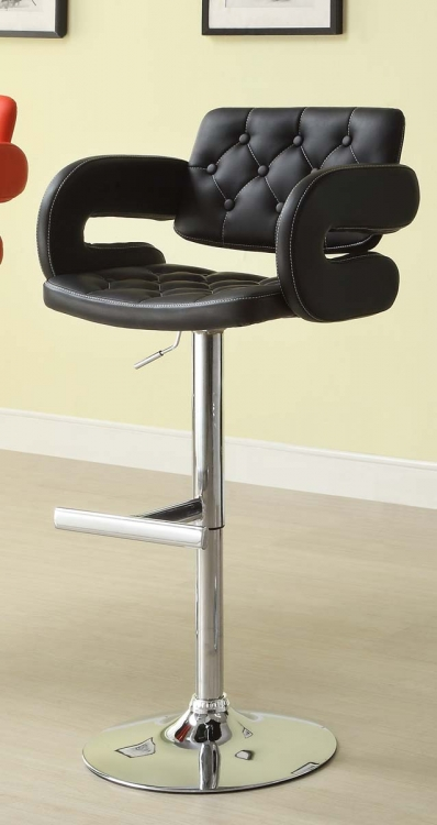 1178BLK Ride Airlift Swivel Stool - Black - Homelegance