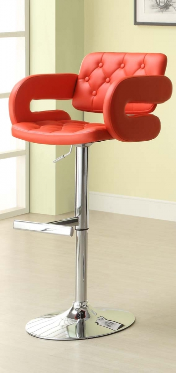 1178RED Ride Airlift Swivel Stool - Red