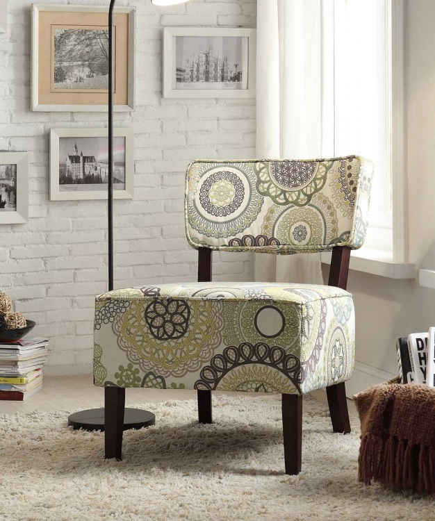 Orson Accent Chair - Floral Medallion Fabric