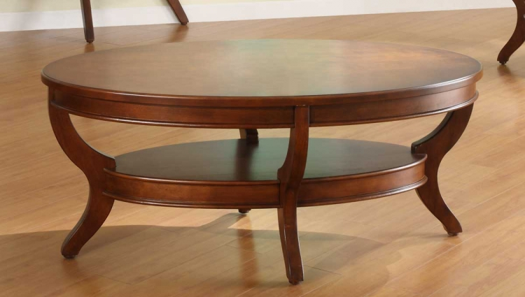 Avalon Oval Cocktail Table - Homelegance