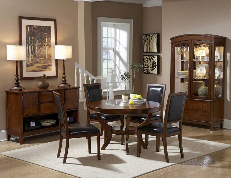 Avalon Round Dining Table Set - Homelegance
