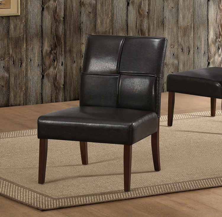 Oriana Accent Chair - Dark Brown