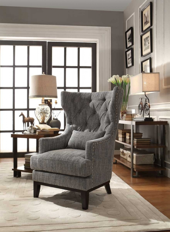 Adriano Accent Chair with 1 Kidney Pillow