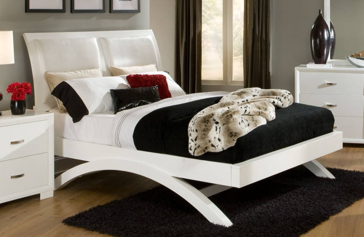 Astrid Bed - White - Homelegance