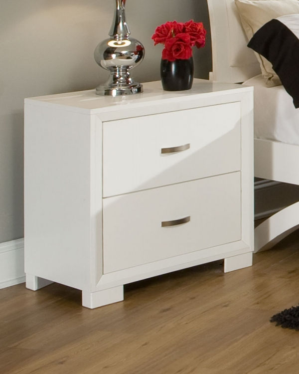 Astrid Night Stand - White - Homelegance
