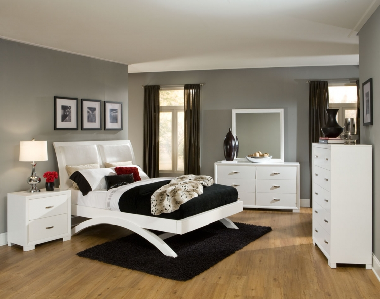 Astrid Bedroom Set - White - Homelegance