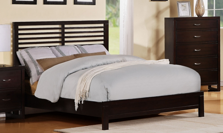 Paula II Bed - Dark Cherry - Homelegance