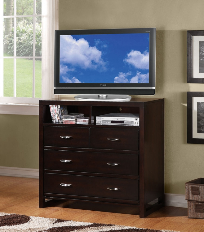 Paula II TV Chest - Dark Cherry - Homelegance