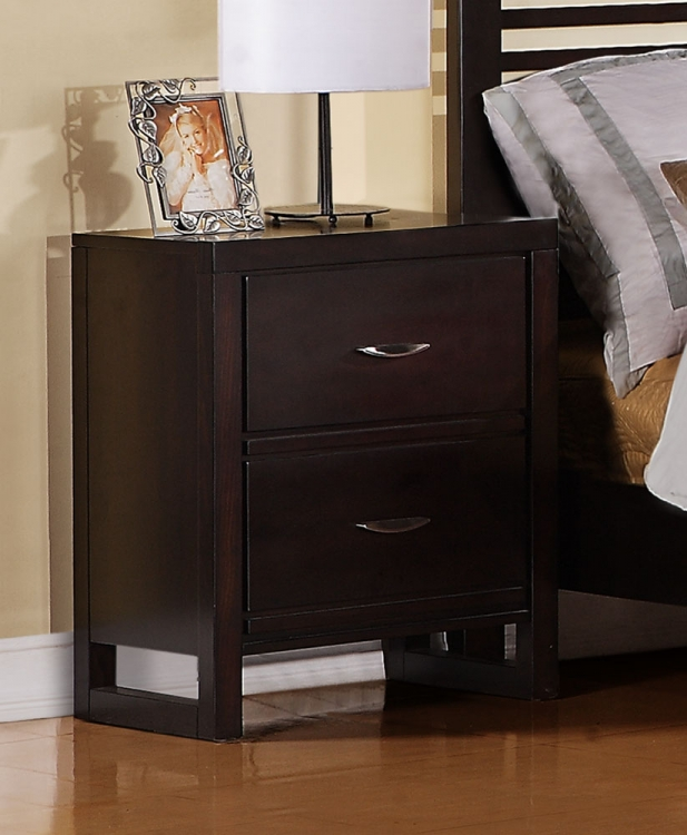 Paula II Night Stand - Dark Cherry - Homelegance