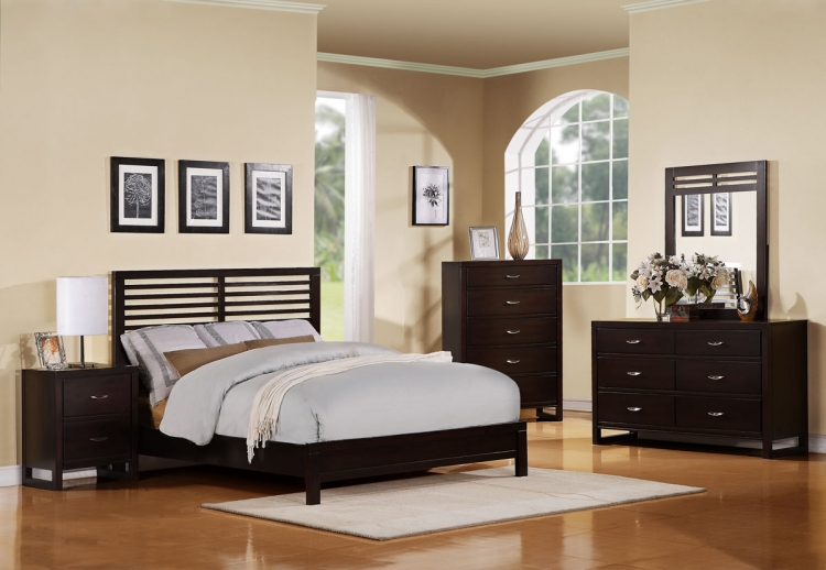 Paula II Bedroom Set - Dark Cherry