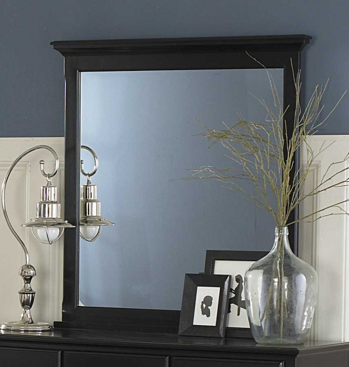 Morelle Mirror - Black - Homelegance
