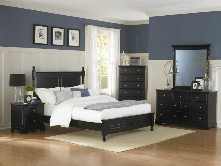 Morelle Bedroom Set - Black - Homelegance