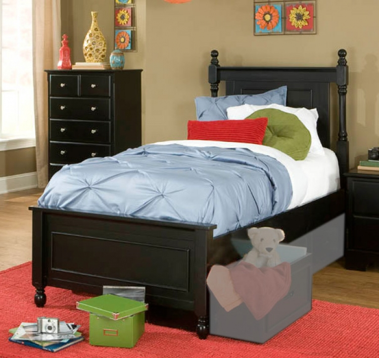 Morelle Captain's Bed - Black - Homelegance