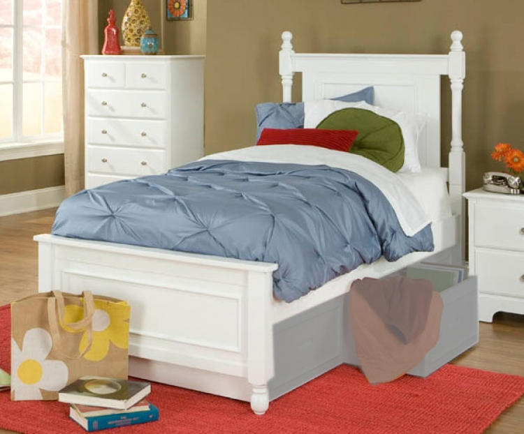 Morelle Captain's Bed - White - Homelegance