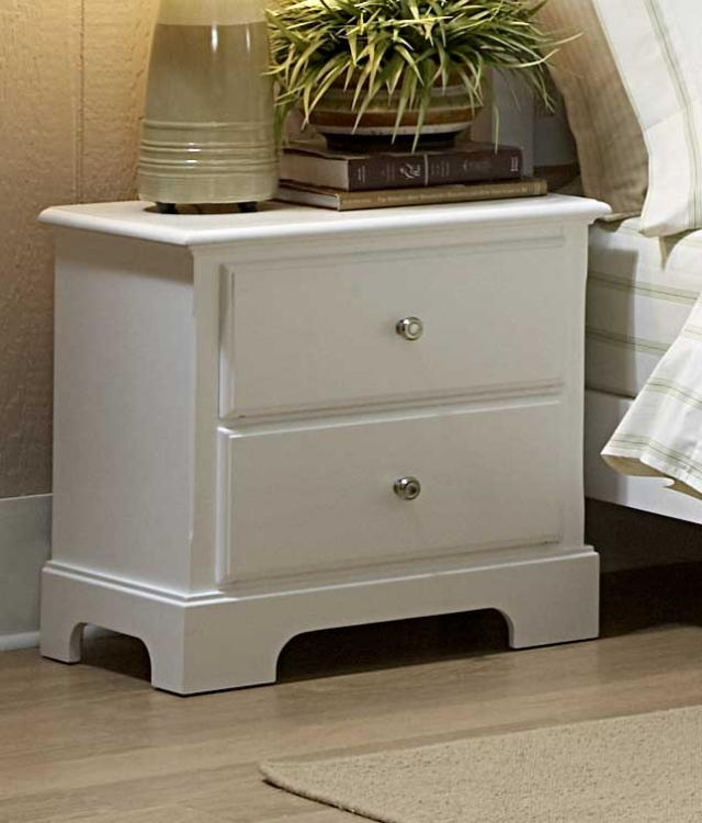 Morelle Night Stand - White - Homelegance