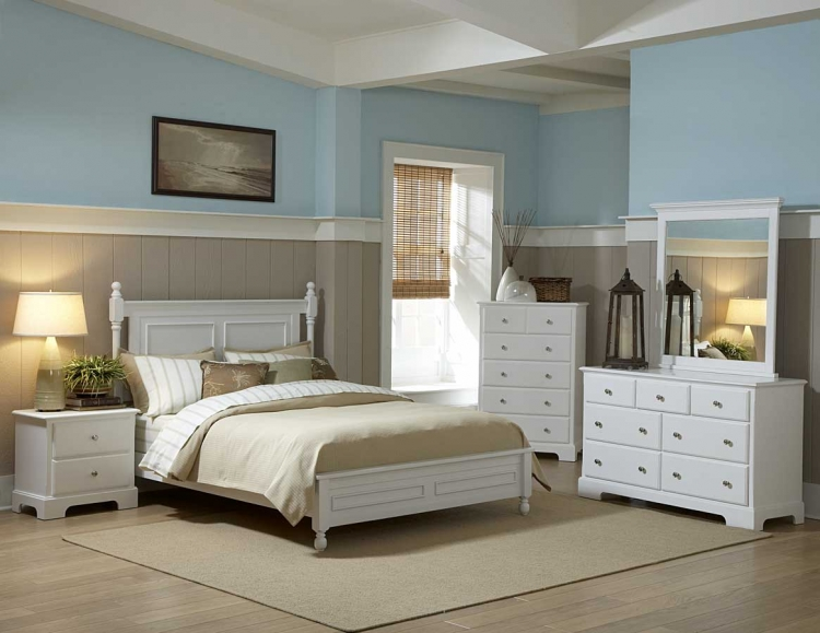 Morelle Bedroom Set - White - Homelegance