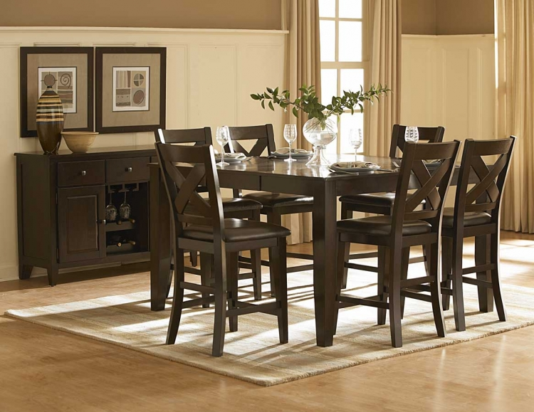 Crown Point Counter Height Dining Set - Homelegance