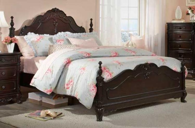 finish 4pcs toledo bedroom set bed nightstand dresser and mirror