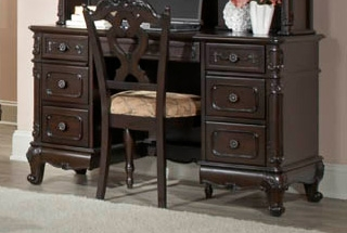 Cinderella Writing Desk - Dark Cherry - Homelegance