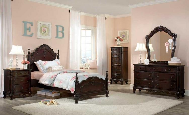 Cinderella Bedroom Set - Dark Cherry - Homelegance