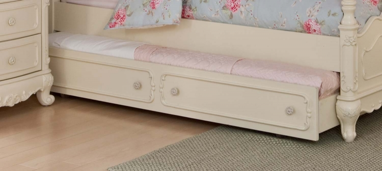 Cinderella Twin Trundle for Canopy Bed and Daybed - Ecru