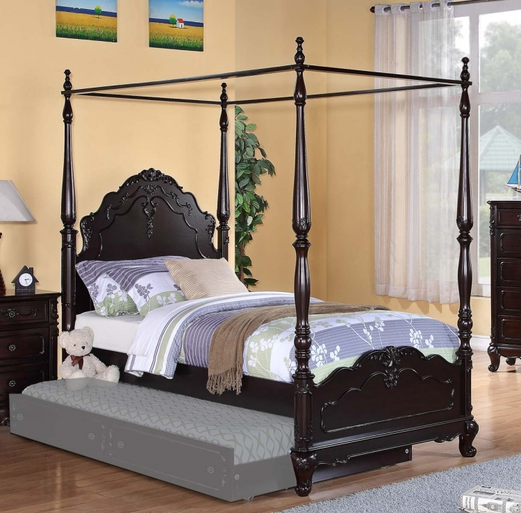 Cinderella Poster Bed - Dark Cherry - Homelegance