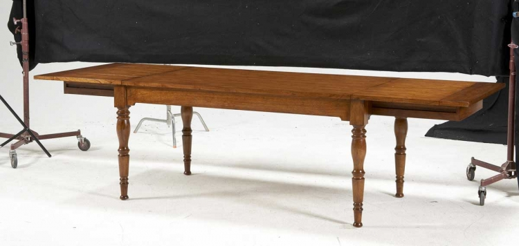 Magnus Dining Table with Extended End Leaf