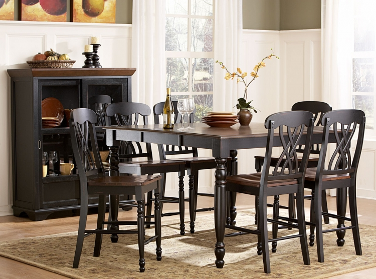 Ohana Counter Height Dining Set - Black - Homelegance