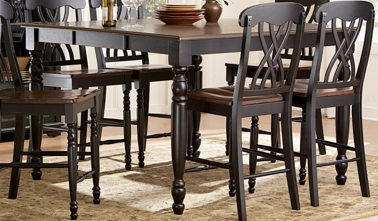 Ohana Counter Height Table - Black - Homelegance