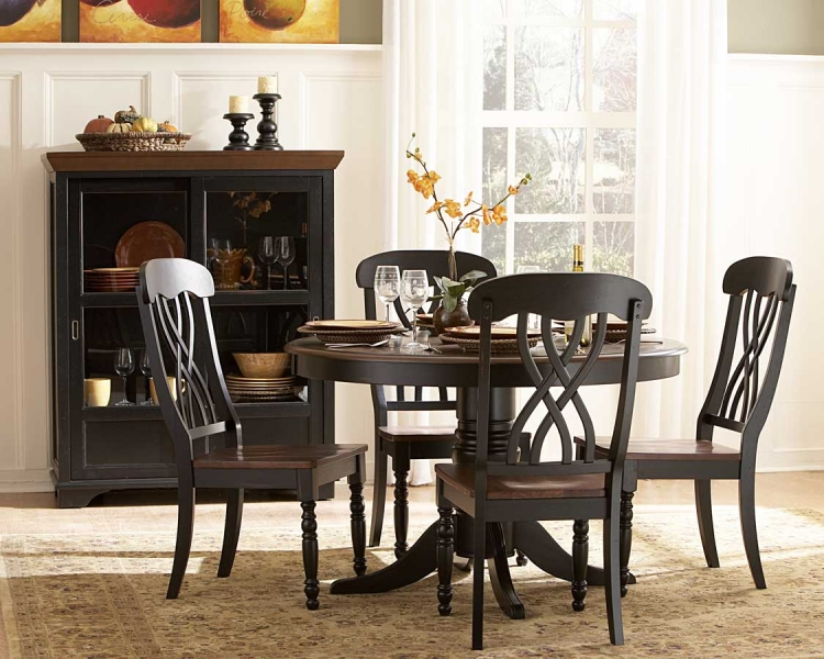 Ohana Round Dining Set - Black - Homelegance