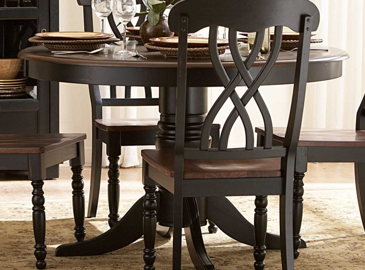 Ohana 48in Round Dining Table - Black - Homelegance
