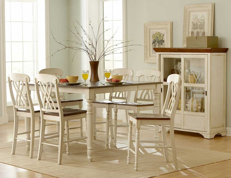 Ohana Counter Height Dining Set - White - Homelegance