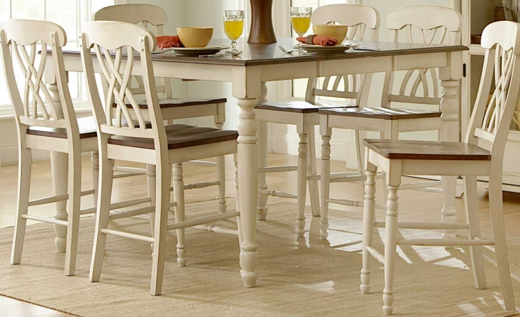 Ohana Counter Height Table - White - Homelegance